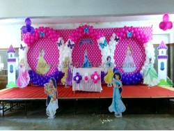 3 Circle Princess Backdrop Decoration