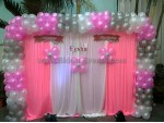 Drape And Balloon Arch Decoration