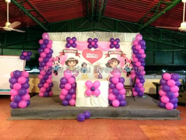 Dora Theme Balloon Decoration