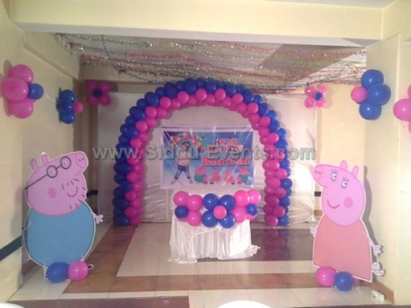 Pepa Pig Theme And Arch Decoration