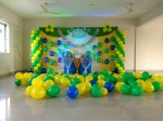 Yellow And Green Balloon Decoration