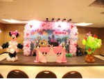 Minnie Mouse Pillar Decoration