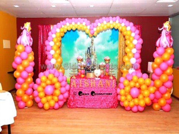 Princess Balloon Chariot Decoration