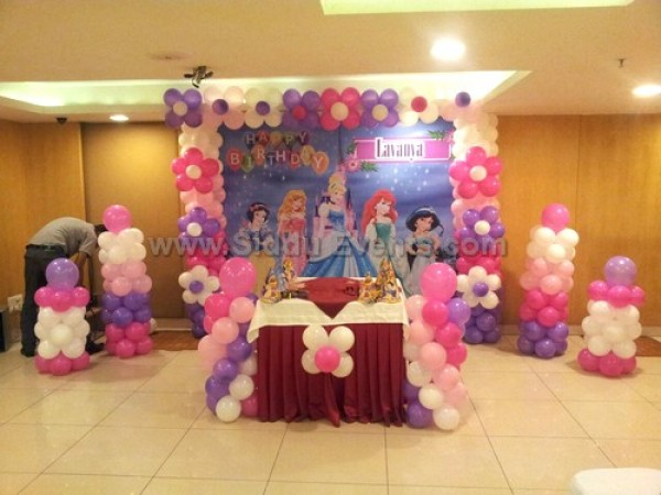 Princess With Balloon Decoration