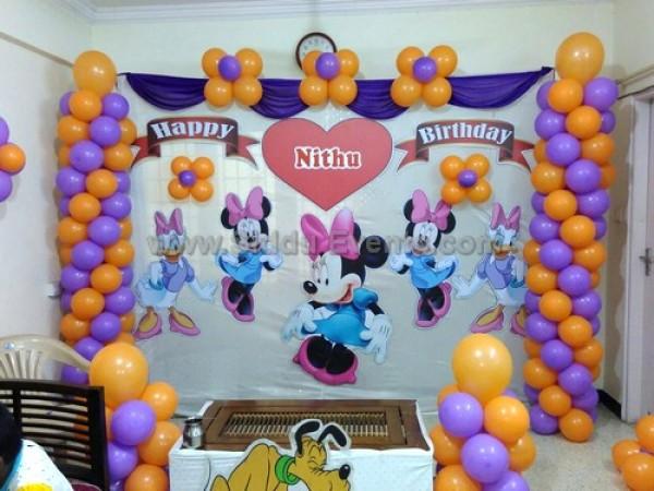 Simple Minnie Mouse Theme Decoration