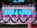Balloon Grid With Baby Photo Backdrop Decoration