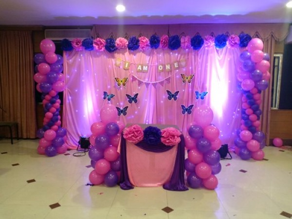 Butterfly Theme And Balloon Decoration