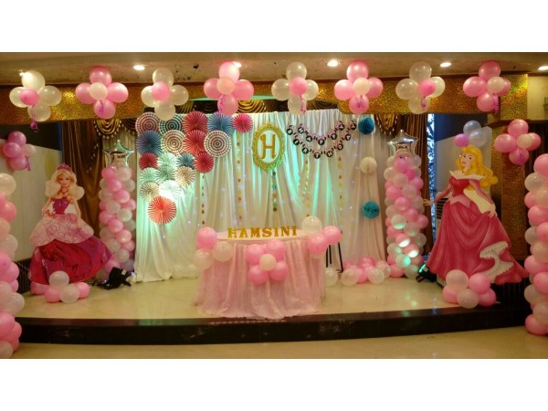 Crafted Backdrop And Princess Decoration