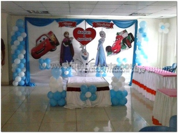 Car And Frozen Theme Decoration