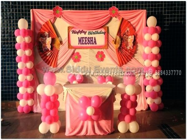 Pink Drape Backdrop Decoration