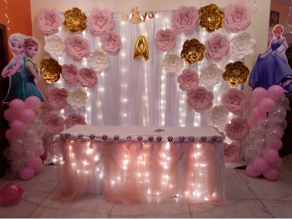 Paper Flower Princess Backdrop Decoration