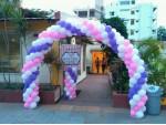 Multi Color Heliuem Balloon Decoration