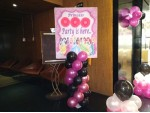 Pink And Black Balloon Decoration
