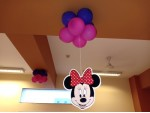 Paper Fan And Balloon Arch Decoration