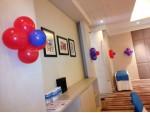 Drape And Balloon Arch Decoration