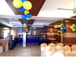 Drape And Multi Color Balloon Decoration