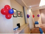 Frozen Theme With Red White Balloon Decoration