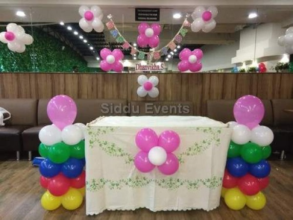 Multi Colour Balloon Bunches For Birthday