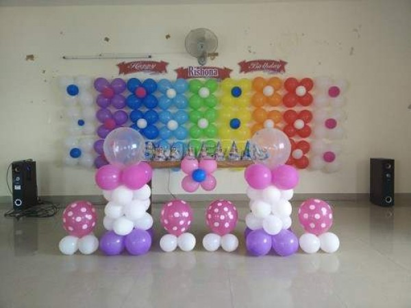 Colourful Balloon Decoration For Birthday