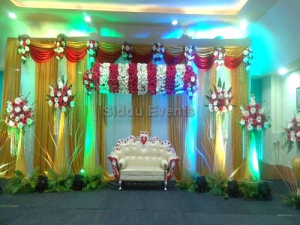 Golden Theme Flower Decor For Engagement