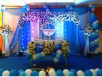 Blue Theme Engagement Decoration