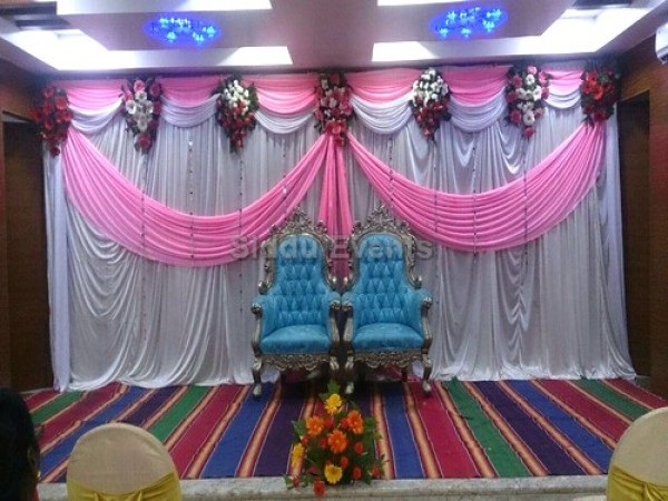Pink And White Decoration For Engagement