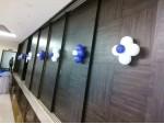 White Angle Decoration With Blue Drape