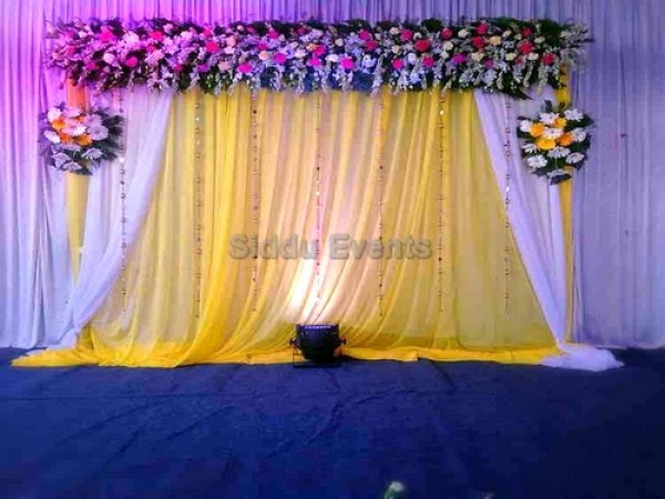 Golden Backdrop Naming Ceremony Decoration