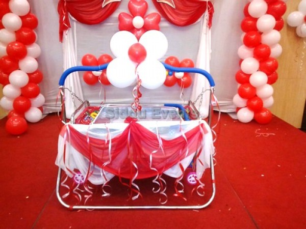 Simple Naming Ceremony Balloon Decoration