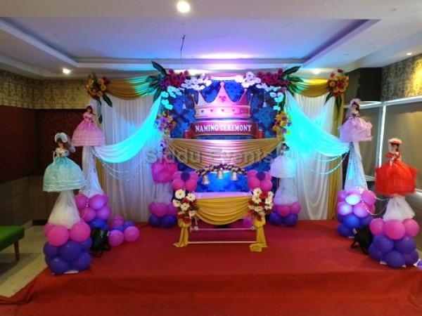 Elegant Decoration For Naming Ceremony