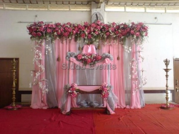 Elegant Pink Decor Naming Ceremony