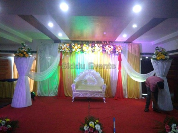 Gold Backdrop Naming Ceremony Decoration