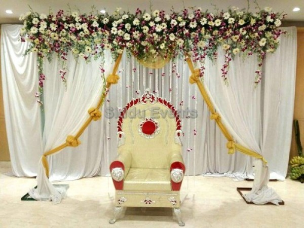 Simple Naming Ceremony Flower Decoration