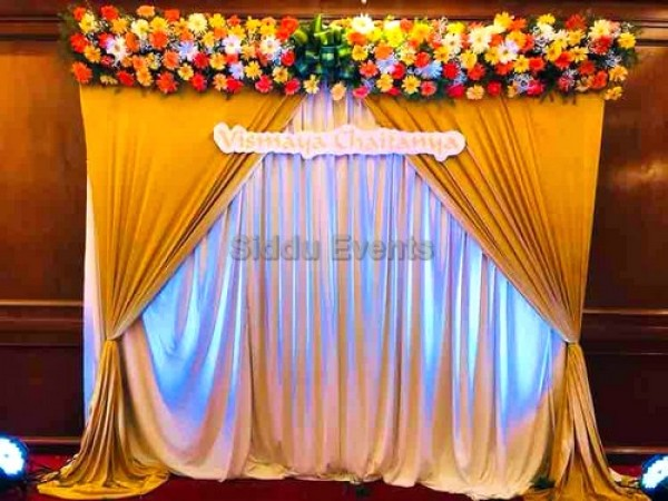 Gold And White Naming Ceremony Decoration