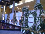 White Theme Wedding Backdrop Decoration
