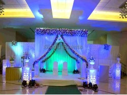 Blue Flame Theme Wedding Decoration