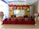 Golden Traditional Wedding Decorational