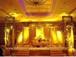 Unique Golden Theme Wedding Decoration
