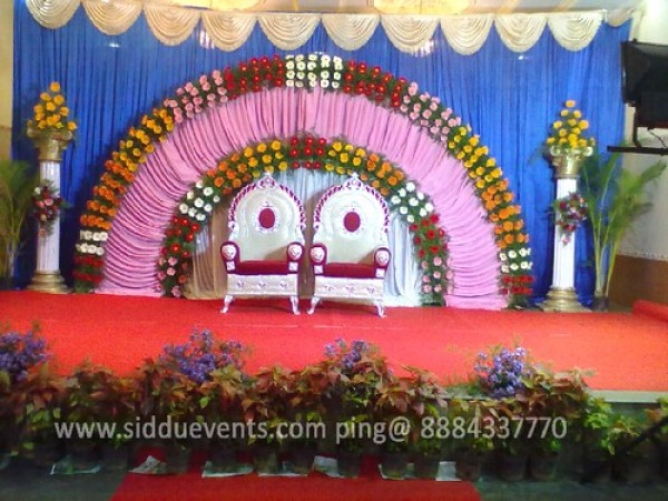 Semi Circle Wedding Backdrop Decoration